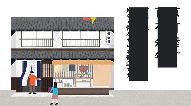 京町屋で百有余年。京都は東山にて、地域の皆様に支えられて長らく営んでいる質店です。