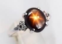「ブラックスターサファイア ダイヤモンド 指輪買取りました」