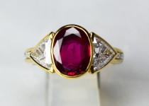 「ルビー ダイヤ 宝石 指輪 買取りました」