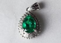 「エメラルド ダイヤモンド ネックレス 宝石 買取りました」