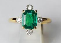 「エメラルド ダイヤモンド 指輪 宝石 買取りました」