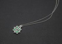 「エメラルド ダイヤモンド 宝石 ネックレス 買取りました」