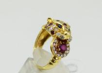 「 指輪 宝石 パンサーデザイン 買取りました 」
