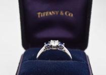 「ティファニー ダイヤ・サファイヤ 指輪 ブランドジュエリー 買取りました」