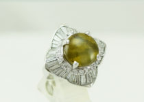 「クリソベリルキャッツアイ ダイヤモンド 指輪 宝石 買取りました」