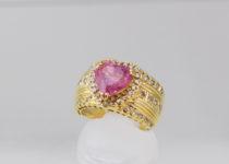 「指輪 ピンクトルマリン K18 宝石 買取りました」