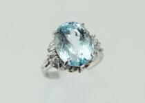 「アクアマリン ダイヤモンド 指輪 宝石 買取りました」