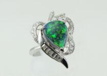 「ブラックオパール ダイヤモンド 指輪 宝石 買取りました」