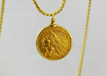 「インディアンコイン 金貨 ネックレス 買取りました」