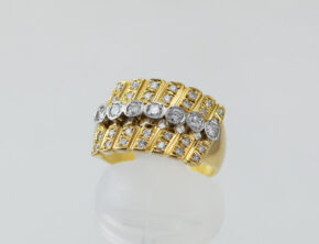 ダイヤモンド K18 pt900 指輪