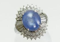 「スターサファイア ダイヤモンド 指輪 宝石 買取りました」